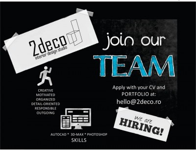 join our TEAM – Autocad, 3d-Max, photoshop SKILLS