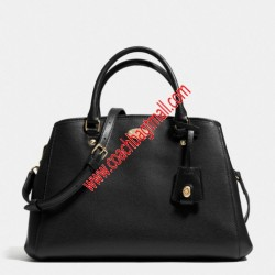 Coach Small Margot Carryall in Leather Black